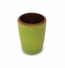 Enrico Mango Utensil Vase Honeycomb Avocado Green
