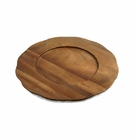 "Enrico 13"" Acacia Wood Charger Plate - Scalloped Edge"