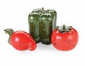 Mud Pie Tomato, Radish or Bell Pepper Sit About (Assorted Designs)