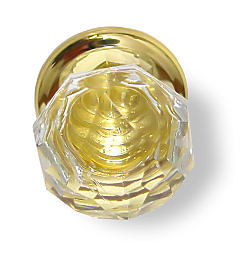 Sonata Bi-Fold Crystal Door Knob And Brass Backplate D31-356SBTBTUS