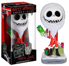 Funko Nightmare Before Christmas Wacky Wobbler Bobble Head Santa Jack Skellington New!