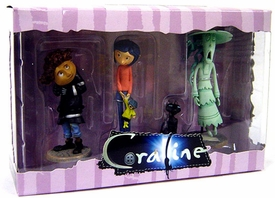 NECA Coraline 3 Inch PVC Figure 3-Pack Striped Shirt Coraline
