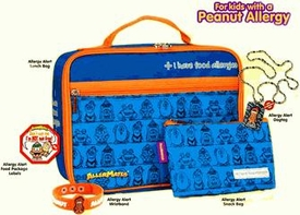 The Peanut Allergy Survival Kit For KidsIncludes Blue Lunch Bag, Small Blue Snack Bag, Peanut Allergy Wristband, Peanut Allergy Dog Tag,