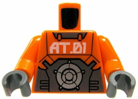 LEGO LOOSE Orange Torso with Gray Exo-Force Armor & 'AT.01' Logo