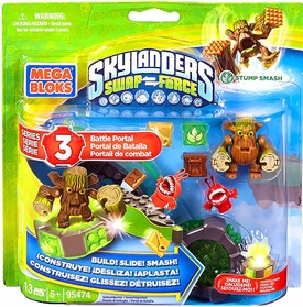 Skylanders SWAP FORCE Mega Bloks Set #95474 Stump Smash's Battle Portal Pre-Order ships August