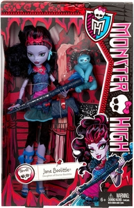 Monster High DELUXE Doll Jane Boolittle & Pet Sloth Needles [Doll Stand & Diary]