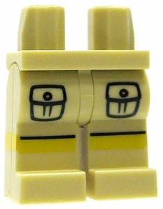 LEGO LOOSE Legs Tan Hips and Legs with Cargo Pockets