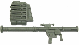 GI Joe 3 3/4 Inch LOOSE Action Figure Accessory Olive Green SAM Launcher with Backpack & 4 Rockets