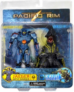 NECA Pacific Rim Limited Edition Action Figure 2-Pack Gipsy Danger vs Knifehead