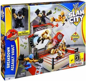 Mattel WWE Wrestling Slam City Breakdown Assault Vault Ring [Includes The Finisher Figure!]