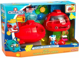 Fisher Price Octonauts Vehicle Playset Launch & Rescue GUP-X & Barnacles