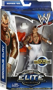 Mattel WWE Wrestling Elite Series 25 Action Figure Brodus Clay [Pants, Shirt, Chain & Hat!]