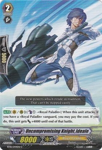 Cardfight Vanguard ENGLISH Triumphant Return of the King of Knights Single Card Common BT10/044 Uncompromising Knight, Ideale