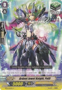Cardfight Vanguard ENGLISH Triumphant Return of the King of Knights Single Card Common BT10/052 Ardent Jewel Knight, Polli