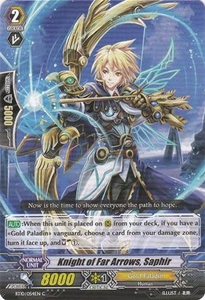 Cardfight Vanguard ENGLISH Triumphant Return of the King of Knights Single Card Common BT10/054 Knight of Far Arrows, Saphir