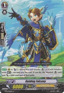 Cardfight Vanguard ENGLISH Triumphant Return of the King of Knights Single Card Common BT10/056 Guiding Falcony