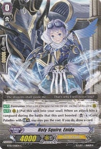 Cardfight Vanguard ENGLISH Triumphant Return of the King of Knights Single Card Common BT10/058 Holy Squire, Enide