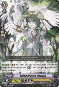 Cardfight Vanguard ENGLISH Triumphant Return of the King of Knights Single Card Common BT10/064 Witch of Owls, Paprika