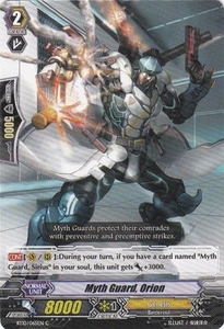 Cardfight Vanguard ENGLISH Triumphant Return of the King of Knights Single Card Common BT10/065 Myth Guard, Orion