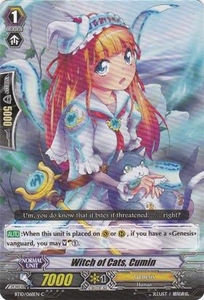 Cardfight Vanguard ENGLISH Triumphant Return of the King of Knights Single Card Common BT10/068 Witch of Cats, Cumin