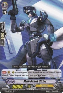 Cardfight Vanguard ENGLISH Triumphant Return of the King of Knights Single Card Common BT10/070 Myth Guard, Sirius