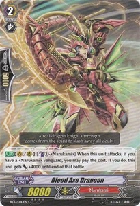 Cardfight Vanguard ENGLISH Triumphant Return of the King of Knights Single Card Common BT10/080 Blood Axe Dragoon
