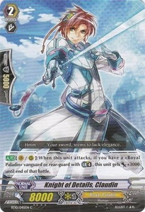 Cardfight Vanguard ENGLISH Triumphant Return of the King of Knights Single Card Common BT10/045 Knight of Details, Claudin