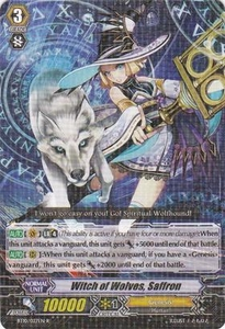 Cardfight Vanguard ENGLISH Triumphant Return of the King of Knights Single Card Rare BT10/027 Witch of Wolves, Saffron