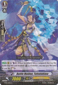 Cardfight Vanguard ENGLISH Triumphant Return of the King of Knights Single Card Rare BT10/031 Battle Maiden, Tatsutahime