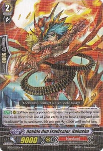 Cardfight Vanguard ENGLISH Triumphant Return of the King of Knights Single Card Rare BT10/035 Double Gun Eradicator, Hakusho