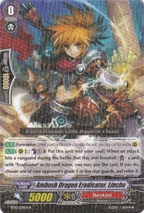Cardfight Vanguard ENGLISH Triumphant Return of the King of Knights Single Card Rare BT10/038 Ambush Dragon Eradicator, Linchu