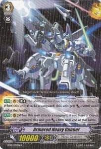 Cardfight Vanguard ENGLISH Triumphant Return of the King of Knights Single Card Rare BT10/039 Armored Heavy Gunner