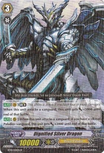 Cardfight Vanguard ENGLISH Triumphant Return of the King of Knights Single Card Rare BT10/021 Dignified Silver Dragon