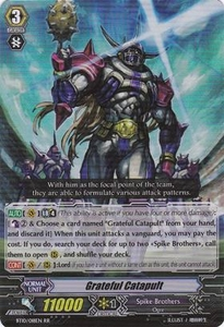 Cardfight Vanguard ENGLISH Triumphant Return of the King of Knights Single Card RR Rare BT10/018 Grateful Catapult