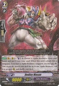 Cardfight Vanguard ENGLISH Triumphant Return of the King of Knights Single Card Rare BT10/042 Dudley Mason