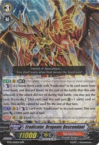 Cardfight Vanguard ENGLISH Triumphant Return of the King of Knights Single Card RRR Rare BT10/006 Eradicator, Dragonic Descendant