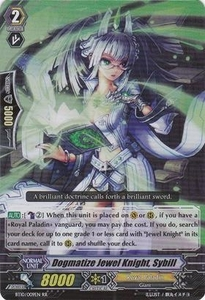 Cardfight Vanguard ENGLISH Triumphant Return of the King of Knights Single Card RR Rare BT10/009 Dogmatize Jewel Knight, Sybill