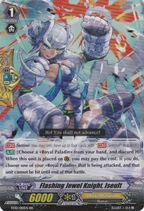 Cardfight Vanguard ENGLISH Triumphant Return of the King of Knights Single Card RR Rare BT10/010 Flashing Jewel Knight, Iseult