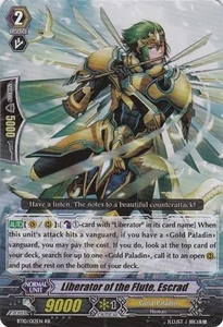 Cardfight Vanguard ENGLISH Triumphant Return of the King of Knights Single Card RR Rare BT10/012 Liberator of the Flute, Escrad