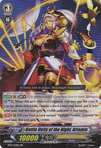 Cardfight Vanguard ENGLISH Triumphant Return of the King of Knights Single Card RR Rare BT10/013 Battle Deity of the Night, Artemis