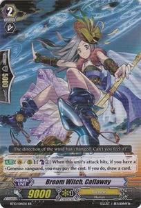 Cardfight Vanguard ENGLISH Triumphant Return of the King of Knights Single Card RR Rare BT10/014 Broom Witch, Callaway