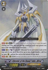 Cardfight Vanguard ENGLISH Triumphant Return of the King of Knights Single Card RRR Rare BT10/003 Liberator of the Round Table, Alfred