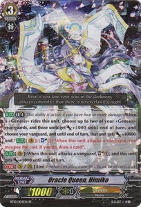 Cardfight Vanguard ENGLISH Triumphant Return of the King of Knights Single Card RRR Rare BT10/004 Oracle Queen, Himiko