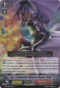 Cardfight Vanguard ENGLISH Triumphant Return of the King of Knights Single Card RR Rare BT10/017 Eradicator Wyvern Guard, Guld