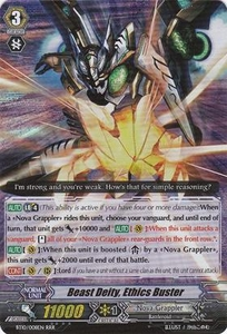 Cardfight Vanguard ENGLISH Triumphant Return of the King of Knights Single Card RRR Rare BT10/008 Beast Deity, Ethics Buster