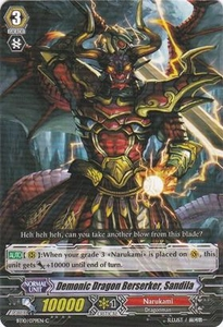 Cardfight Vanguard ENGLISH Triumphant Return of the King of Knights Single Card Common BT10/079 Demonic Dragon Berserker, Sandila