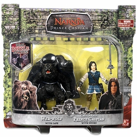 Chronicles of Narnia Prince Caspian Basic Figure 2-Pack Wer-Wolf & Castle Raid Prince Caspian