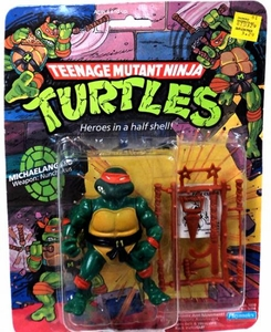 Teenage Mutant Ninja Turtles Vintage Action Figure Michelangelo Non-Mint Package!