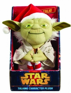 Star Wars Medium Talking Plush Santa Yoda Pre-Order ships March