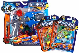 Slugterra Combo Deal Basic Blaster & Evo Dart Set Kord's Blaster + 2 RANDOM Transforming Slug Darts 3-Packs [Includes Code for Exclusive Game Items]